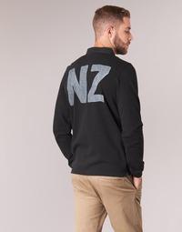 Textil Muži Polo s dlouhými rukávy Serge Blanco POLO NEW ZEALAND Černá