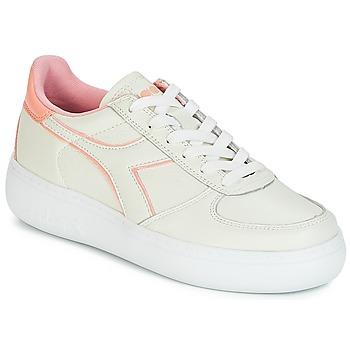 Boty Ženy Nízké tenisky Diadora B.ELITE L WIDE WN Krémově bílá / Růžová