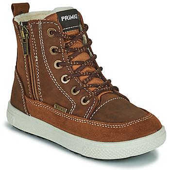 Boty Chlapecké Kotníkové boty Primigi PCA 24130 Hnědá