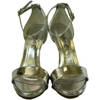 6b407bed99cb Boty Ženy Sandály John-C Dámske strieborné sandále ROSARIA strieborná
