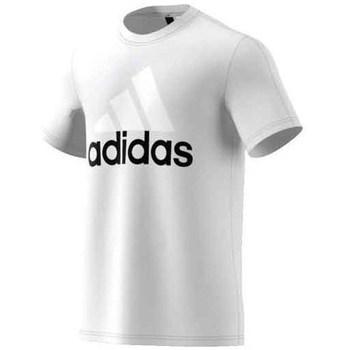 Textil Muži Trička s krátkým rukávem adidas Originals Performance Essentials Linear Tee Bílé