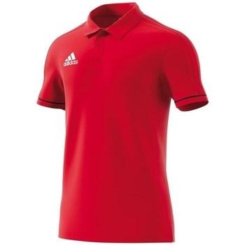 Textil Muži Polo s krátkými rukávy adidas Originals Polo Tiro 17 Červené
