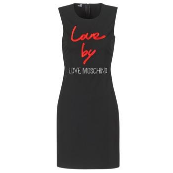 Textil Ženy Krátké šaty Love Moschino CARININA Černá