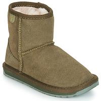 Boty Dívčí Kotníkové boty EMU WALLABY MINI Khaki