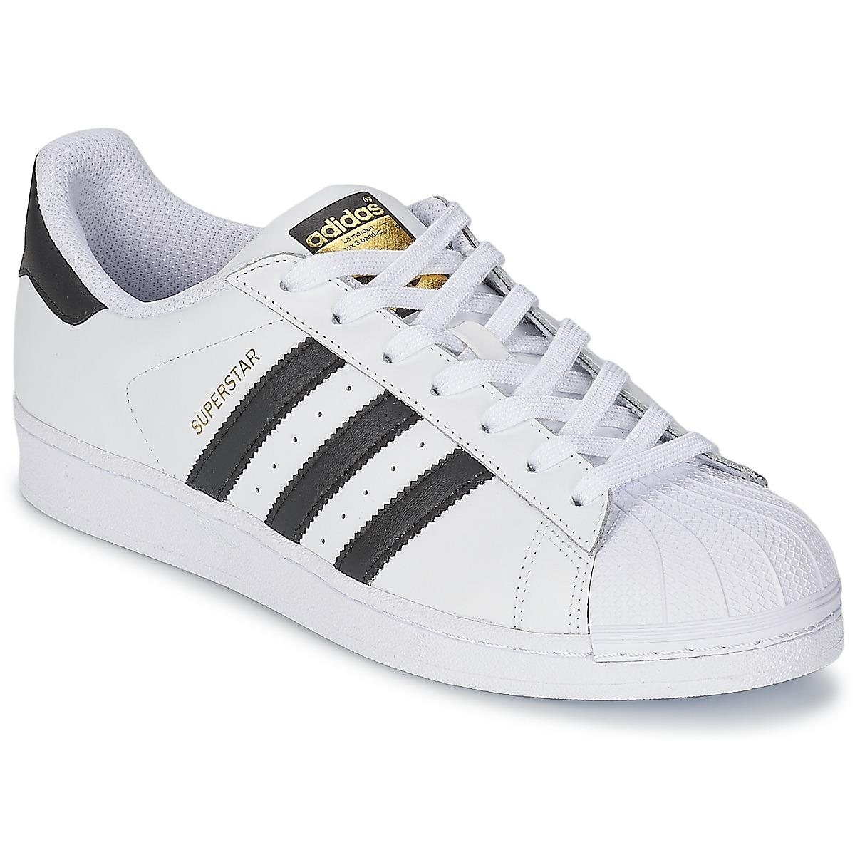 Nizke tenisky adidas Originals SUPERSTAR Bílá / Černá