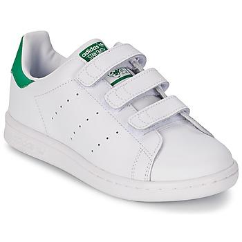 Boty Děti Nízké tenisky adidas Originals STAN SMITH CF C Bílá / Zelená