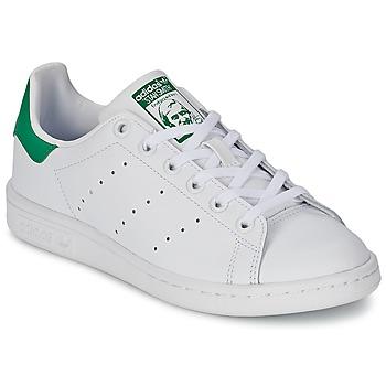 Boty Děti Nízké tenisky adidas Originals STAN SMITH J Bílá / Zelená