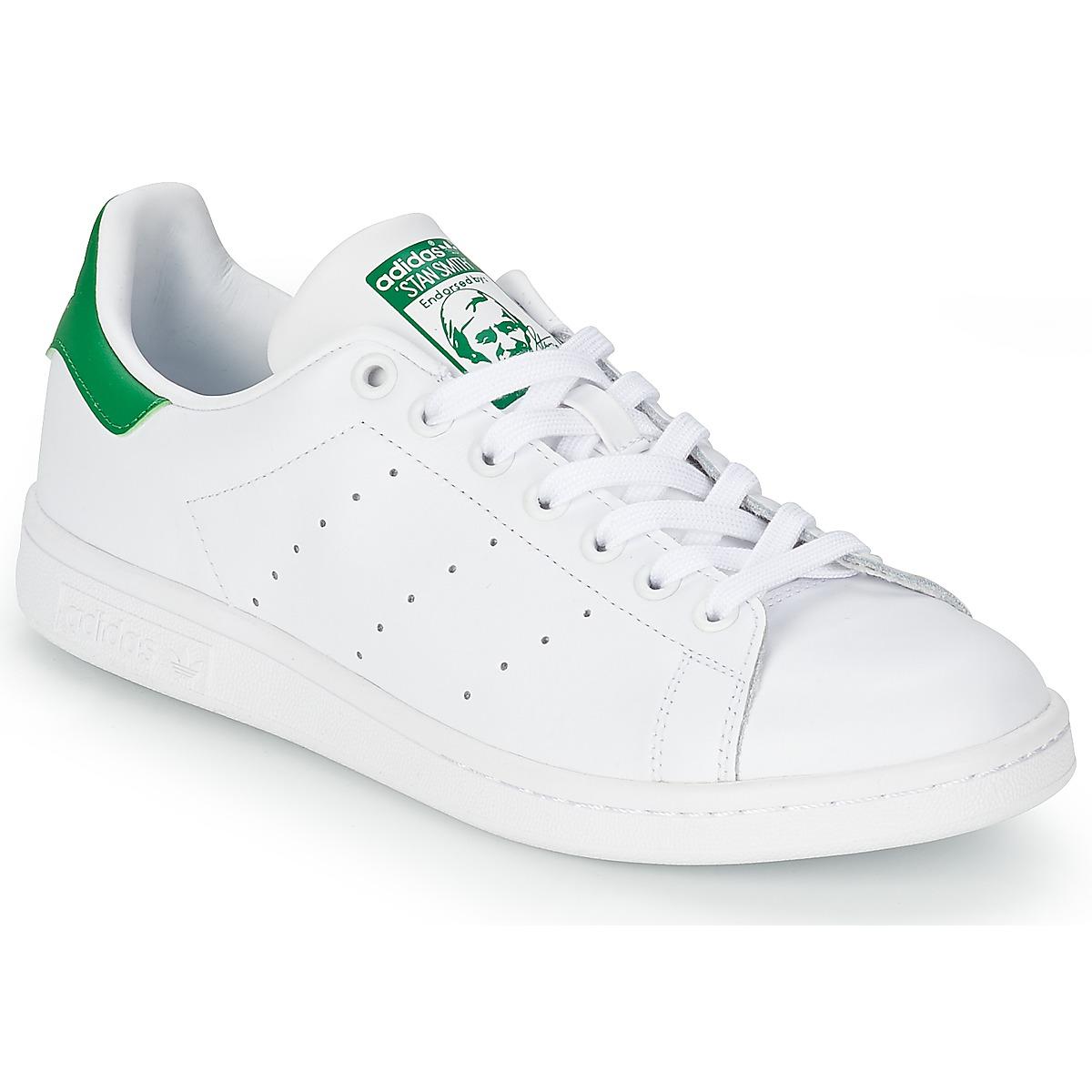 Nizke tenisky adidas Originals STAN SMITH Bílá / Zelená