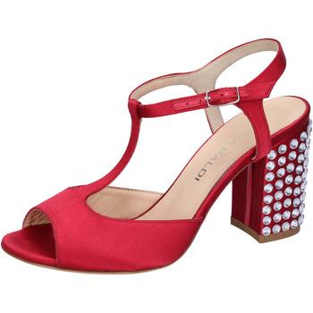 Boty Ženy Sandály Lella Baldi sandali rosso raso strass AH826 Rosso