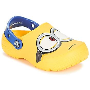 Boty Děti Pantofle Crocs CROCS FUNLAB MINIONS CLOG Žlutá