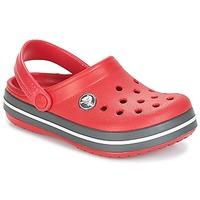Boty Děti Pantofle Crocs CROCBAND CLOG KIDS Červená