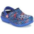 Boty Děti Pantofle Crocs CLASSIC LINED GRAPHIC CLOG K Modrá