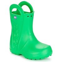 Boty Děti Holínky Crocs HANDLE IT RAIN BOOT KIDS Zelená