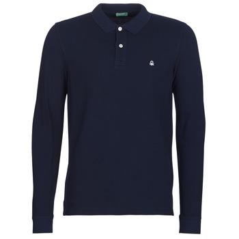 Textil Muži Polo s dlouhými rukávy Benetton MAZARRI Tmavě modrá