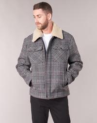 Textil Muži Kabáty Benetton MADRILA Šedá
