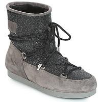 Boty Ženy Zimní boty Moon Boot FAR SIDE LOW SUEDE GLITTER Černá / Šedá
