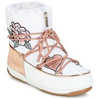Boty Ženy Zimní boty Moon Boot PEACE & LOVE WP Bílá / Růžová / Zlatá