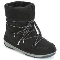 Boty Ženy Zimní boty Moon Boot LOW SUEDE WP Černá