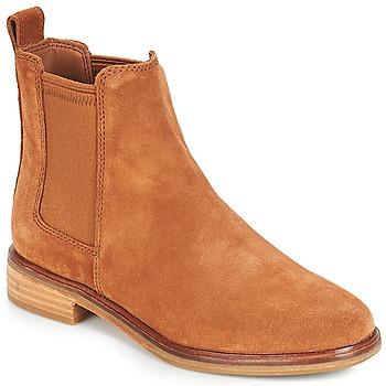 Boty Ženy Kotníkové boty Clarks CLARKDALE Velbloudí hnědá