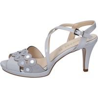 Boty Ženy Sandály Olga Rubini sandali grigio vernice camoscio BY358 Grigio