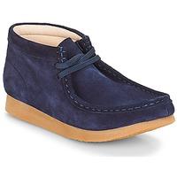 Boty Děti Kotníkové boty Clarks Wallabee Bt Námořnická modř / Semiš