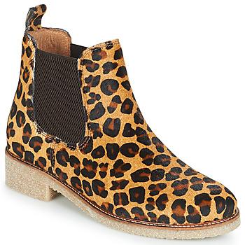 Boty Ženy Kotníkové boty Bensimon BOOTS CREPE Béžová