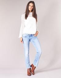 Textil Ženy Rifle rovné Pepe jeans VENUS Modrá / Světlá