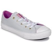 Boty Dívčí Kotníkové tenisky Converse CHUCK TAYLOR ALL STAR HI Platinová šedá / Fuchsiová / Zářivá / Bílá