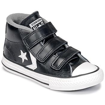Boty Děti Kotníkové tenisky Converse STAR PLAYER 3V MID Černá / Bílá
