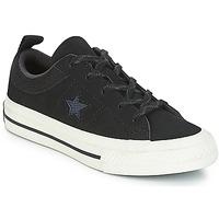 Boty Děti Nízké tenisky Converse ONE STAR NUBUCK OX Černá / Bílá