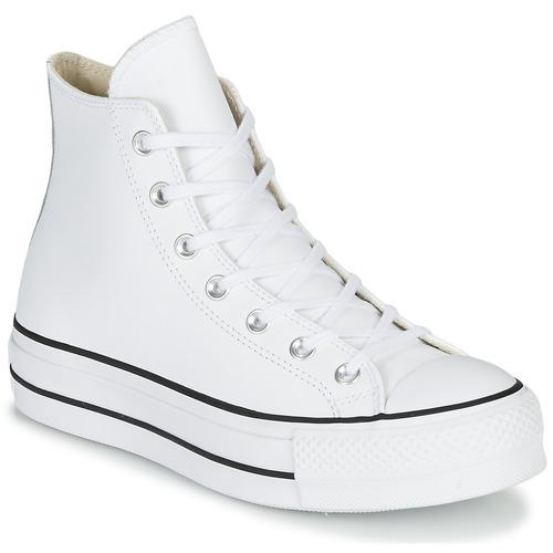 jemné barvy klasické boty běžecké boty CHUCK TAYLOR ALL STAR LIFT CLEAN LEATHER HI