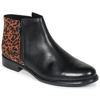Boty Ženy Kotníkové boty Betty London JINANE Černá / Hnědá