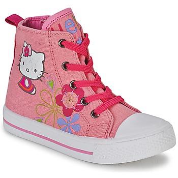 Boty Dívčí Kotníkové tenisky Hello Kitty LONS Růžová