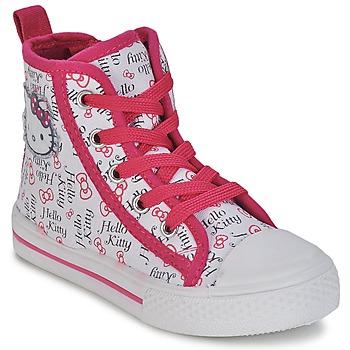 Boty Dívčí Kotníkové tenisky Hello Kitty LYNDA Bílá