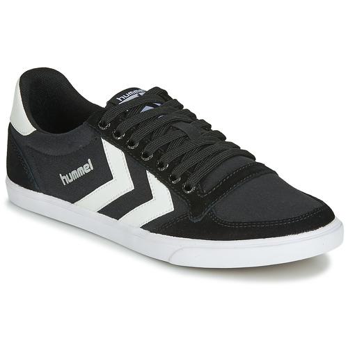 Boty Kotníkové tenisky Hummel TEN STAR LOW CANVAS Černá / Bílá
