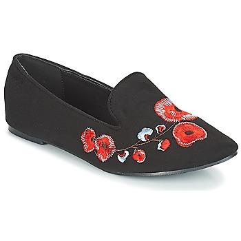Boty Ženy Mokasíny Moony Mood JASMINY Černá / Květinová