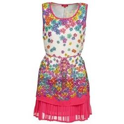 Textil Ženy Krátké šaty Derhy BARMAN Krémově bílá / Růžová