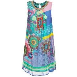 Textil Ženy Krátké šaty Derhy BARDE Modrá / Zelená