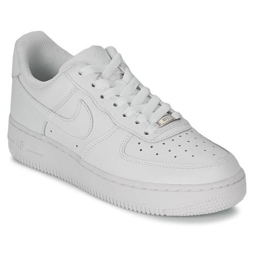 Boty Ženy Nízké tenisky Nike AIR FORCE 1 07 LEATHER W Bílá