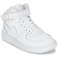 Boty Děti Nízké tenisky Nike AIR FORCE 1 MID Bílá