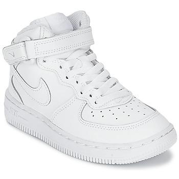 Boty Děti Kotníkové tenisky Nike AIR FORCE 1 MID Bílá