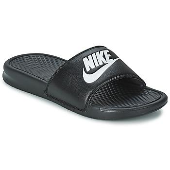 Boty Muži pantofle Nike BENASSI JUST DO IT Černá