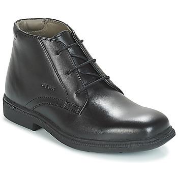 Boty Chlapecké Kotníkové boty Geox JR FEDERICO Černá