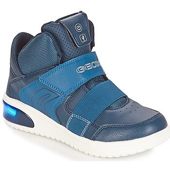 Boty Chlapecké Nízké tenisky Geox J XLED BOY Tmavě modrá