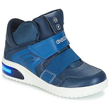Boty Chlapecké Kotníkové tenisky Geox J XLED BOY Tmavě modrá