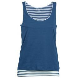 Textil Ženy Tílka / Trička bez rukávů  Majestic BLANDINE Tmavě modrá / Bílá
