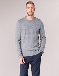 Textil Muži Svetry Jack & Jones JJEBASIC Modrá