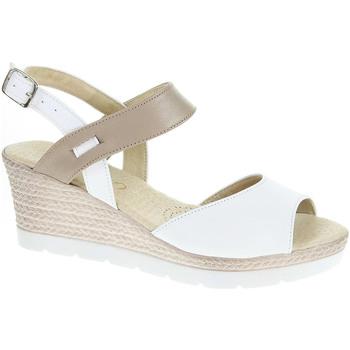 Boty Ženy Sandály Rejnok Dovoz Dámské sandály J 3928 bílá-béžová Bílá
