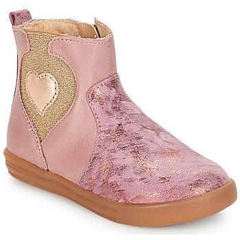 Boty Dívčí Kotníkové boty André MAUVE Růžová