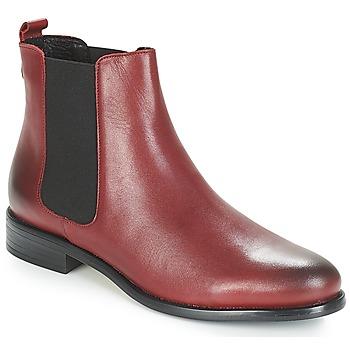 Boty Ženy Kotníkové boty André CARAMEL Červená